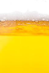 Beer bubbles in a mug