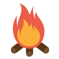 Bonfire icon vector. Campfire icon.