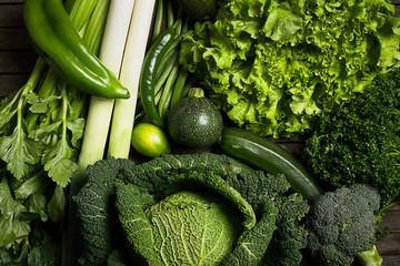 Ensemble de légume verts