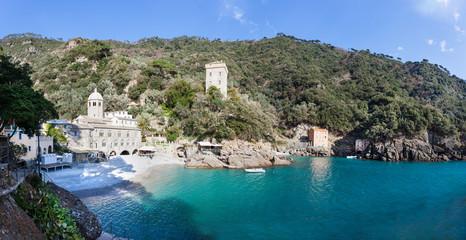 The Abbey of San Fruttuoso is a medieval Catholic abbey on the coast of Portofino. Italy.