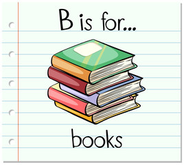 Flashcard letter B is for books