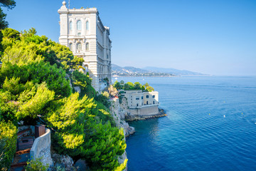 Side of Oceanographic Institute museum in Principality of Monaco