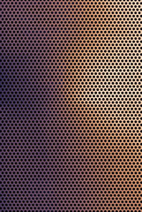 Brown copper colored metal grid background