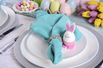 Happy Easter Table Setting.