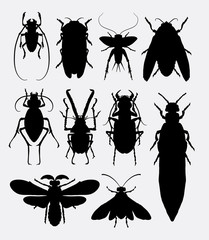 Insect, bug, small animal silhouette 1. Good use for symbol, logo, web icon, game elements, mascot, sign, or any design you want. Easy to use.