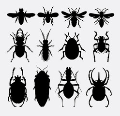 insect, bug, bee, ant, animal silhouette. Good use for symbol, logo, web icon, mascot, game elements, object, sign, or any design you want. Easy to use.