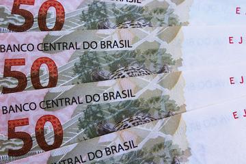 Brazilian bills (50 reais)