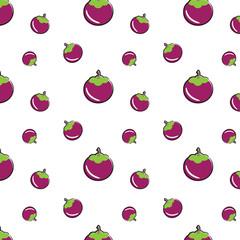 Mangosteen seamless pattern