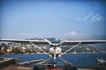 seaplane on Lake Como berth