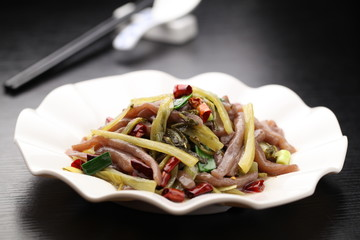 Chinese cuisine served on a plate