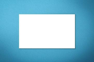 white blank name card