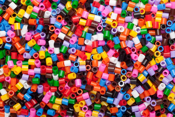 Colorful fusible plastic beads