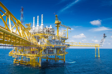 Oil and Gas processing platform,producing gas condensate and water and sent to onshore refinery. Wall mural