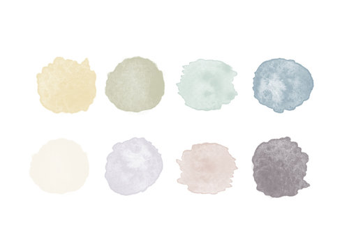 Watercolor Swatches (hand painted)