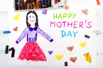 Colorful drawing - Mothers Day card
