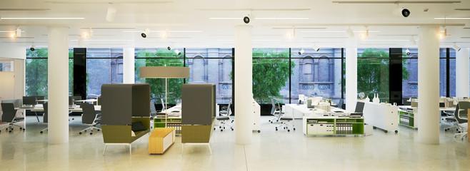 panaroama eines modernen Großraum Büros - panarama view modern loft office