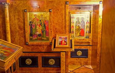 The small Chapel in Alexander Nevsky Church of Jerusalem