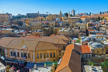 The roofs of the Christian Quarter