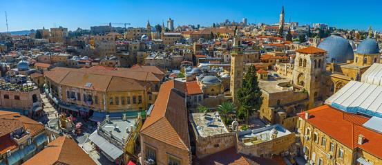 Aerial panorama of Jerusalem