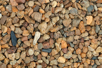 Multicolor stones for pattern and background