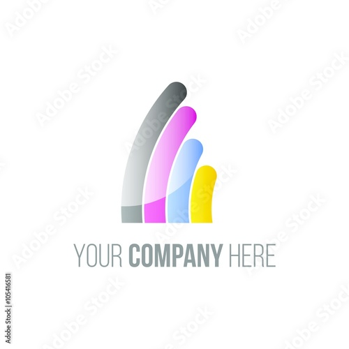 """digital printing logo icon Vector "" Stock image and ..."