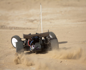 remote control car running on sand