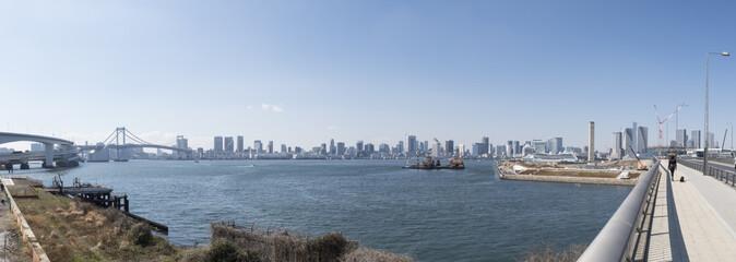 写真素材「豊洲からの東京湾風景」