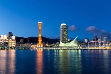 Kobe city in Japan at night