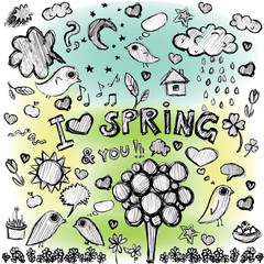 clip art spring colorful spots  illustrations