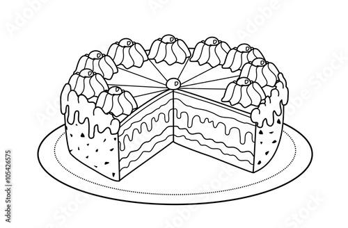 Torte (Malvorlage)