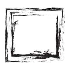 Grunge square frame. Vector element for design flyers, brochures