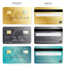 Vector set/Gold ,dark and blue credit debit card design template,To adapt idea for commercial,business,advertising,information,financial,illustration