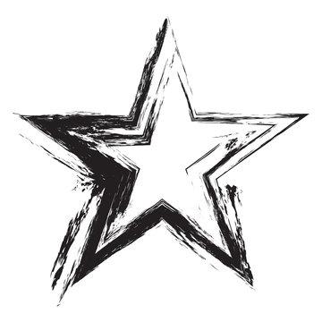 Grunge frame star. Vector element for design flyers, brochures