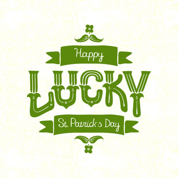 lettering happy St. Patrick's Day