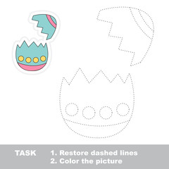 Eggshell to be traced. Vector trace game.