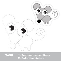 Mouse to be traced. Vector trace game.