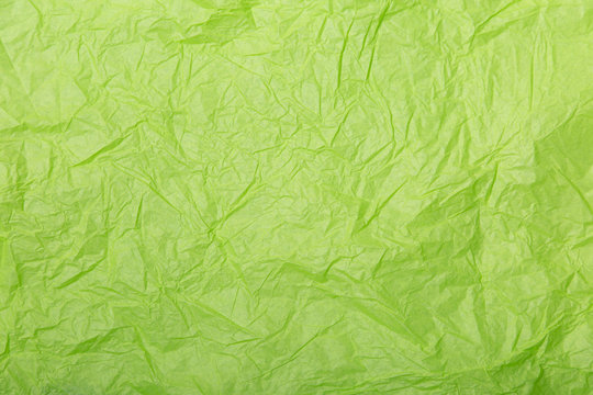 Lime green wrinkled paper texture