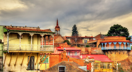 Buildings in the old town of Tbilisi