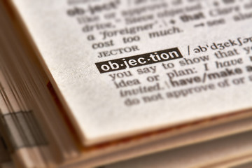 Objection Word Definition Text