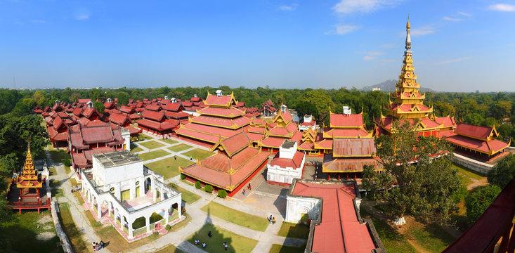 Panorama of Royal Palace in Mandalay