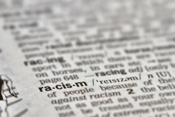 Racism Word Definition Text