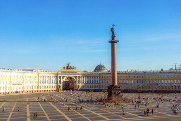 Palace square arial view in St. Petersburg, Russia.