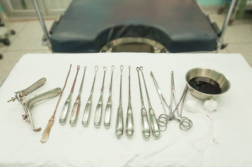 gynecological equipment use for treatment gynecological disease in operating room