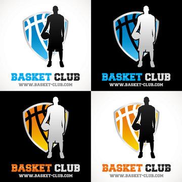 logo basketteur sport basketball