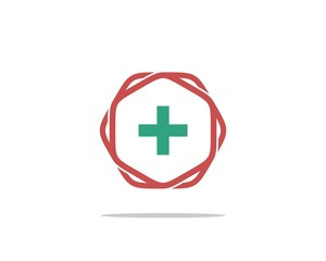 hexagon shape 4 - health care logo template