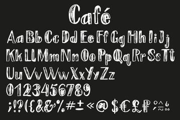 Chalk latin alphabet.