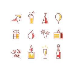 Event celebration icons