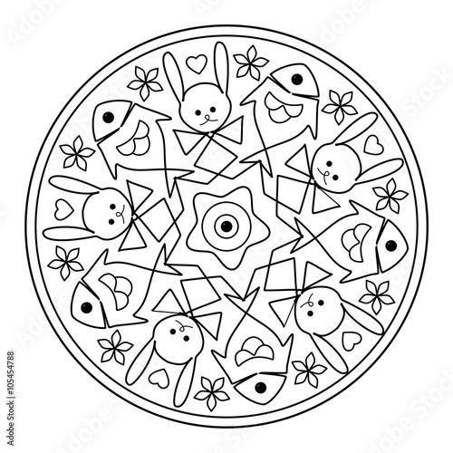 Mandala Für Kinder Malvorlage Stockfotos Und Lizenzfreie Bilder