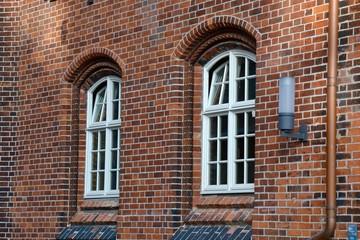 """Bricks Upon Bricks Upon Windows"" A gorgeous warehouse exterior in Hamburg, Germany"