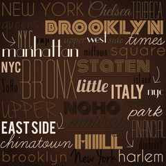New York City vector pattern.